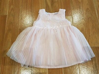 BABY GIRL PINK DRESS- Size 0 6-12 months