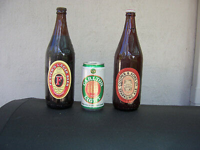 Vintage Beer Bottles FOSTERS and COOPERS with Bottle Top & Label (2)