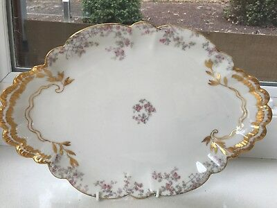 French Platter Limoge White With Gold Trim Vintage Haviland And Co.