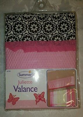 Summer JULIETTE Nursery Window Valance - 14x48 New, Free Shipping