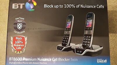 BT 8600 Advanced Call Blocker Cordless Phone & Answer Machine Twin Handset Pack