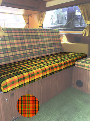 T2 Westfalia Full Width Rock and Roll Bed/ Seat bottom Cover in Orange C9703O