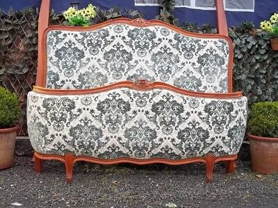 French Vintage Quality Louis Xv Revival Double Corbielle Bed/nice Example