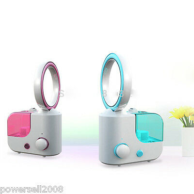 Ultrasonic Blue Air Humidifier Mist Maker Household Purifier Diffuser Mute Fan