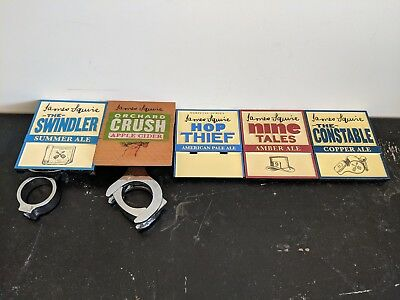The James Squire Beer Tap Badge Collection set of 5