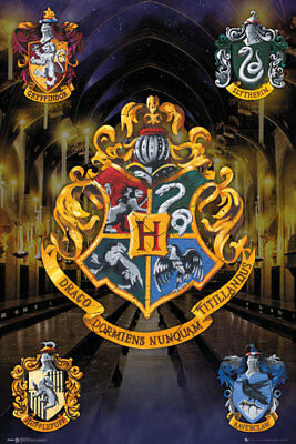 Harry Potter Crests Poster Wizarding World Maxi Poster Print 61x91.5cm | 24x36