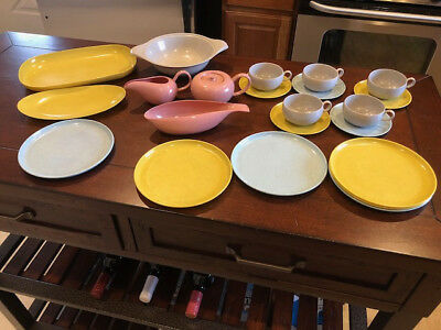 Ideal 23 Piece Set Russell Wright Child's Plastic Dishes