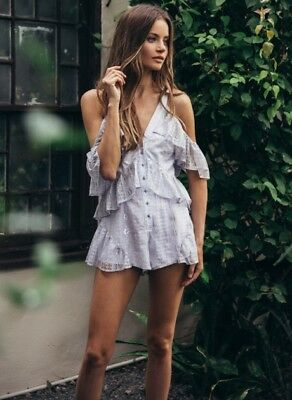 Alice McCall Be The One Playsuit Silver AU12 NWT