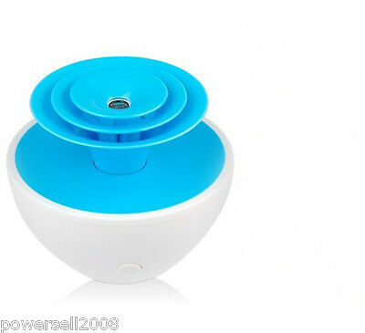 Mini Portable Flower USB Blue Humidifier Ultrasonic Air Cool Mist Humidifier