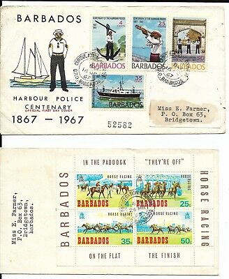4 Covers with Barbados Stamps, 1960s