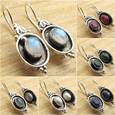 925 Silver Plated Old Style TRIBAL Earrings ! Fashion Jewelry for Her