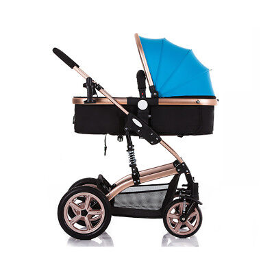 Foldable Baby Stroller Pram Pushchair with Explosion-proof Rear Wheel -UK STOCK