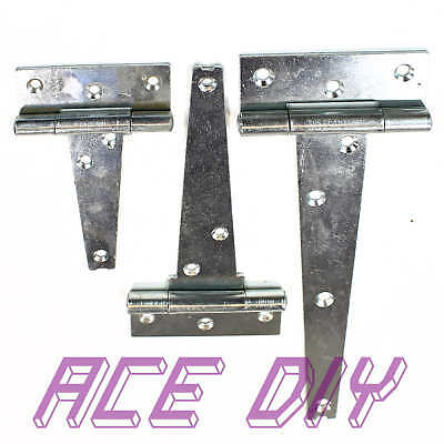 Heavy Duty Tee Hinge BZP | T Hinge Gates Doors Cabinet Shed Barn Strong Secure