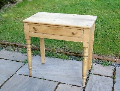 Late Victorian Pine Washstand Side Table - Ideal Project Upcycling