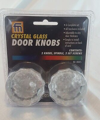 Vintage Style Crystal Glass Door Knob Hardware Set