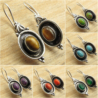 925 Silver Plated OXIDIZED Earrings ! Vintage Style Handmade Jewelry