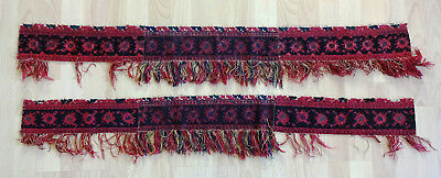 antike Stickerei  mit Fransen, antique embroideries w. fringe, before 1900