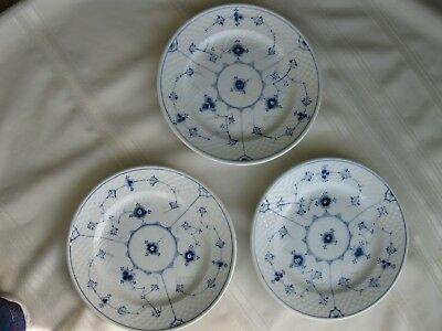 Bing and Grandahl blue fluted plates