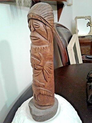 11.5 Inch Totem Pole Signed  George Ruetters