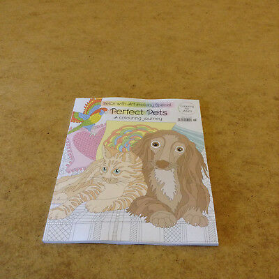 Relax With Art Holiday Special #18 Perfect Pets Colouring Book Dogs Cats & More