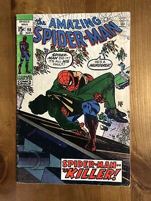 AMAZING SPIDER-MAN # 90 1970 Death of Captain Stacy