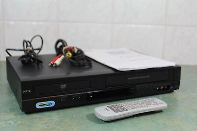 NEC NDT-44A Combo VCR DVD 6 HEAD player + Video Recorder + Remote + RCA VHS