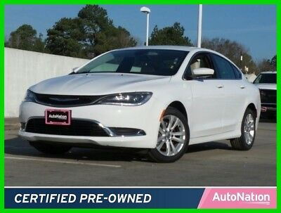 2016 Chrysler 200 Series Limited 2016 Limited Used Certified 2.4L I4 16V Automatic Front Wheel Drive Sedan
