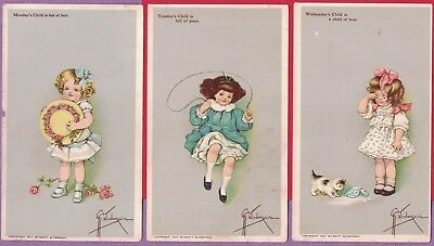 0415X Vtg Swift Soap Trade Card Set A/s Grace Wiederseim Child's Day Of Weeks