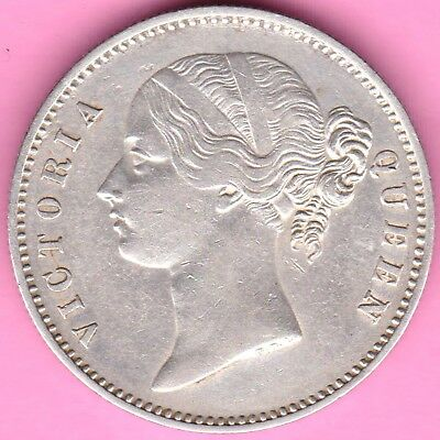 British India-1840-Divided Legend-Victoria-One Rupee-Beautiful Silver Coin-75