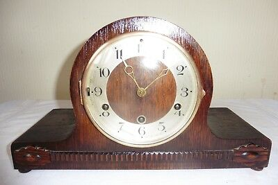 Fine Example Of An Art Deco H.a.c  Westminster Chiming  Mantle Clock (Working)..