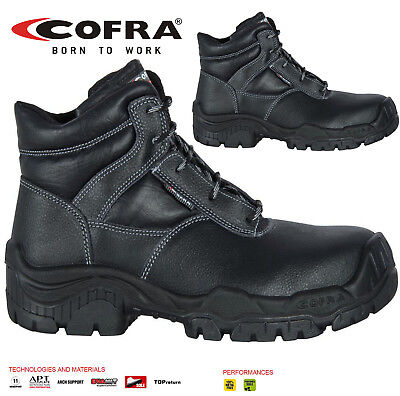 Mens Cofra S3 Composite Toe Cap Work Safety Boots Hiker Leather Lightweight Size