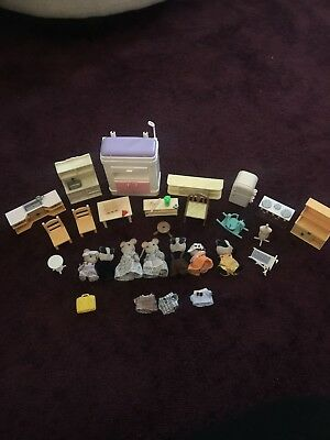 Sylvanian Families Figures, Furniture, Clothing Job Lot Bundle - Kids Role Play
