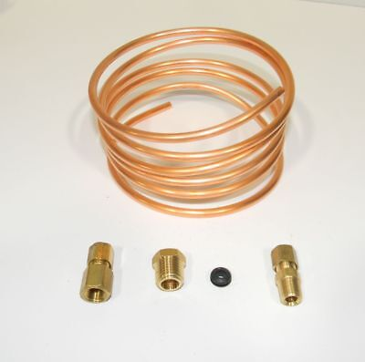 """Oil Pressure Gauge Copper Tubing Line Kit 6' x 3/16"""" for Ford Tractors  NEW"""