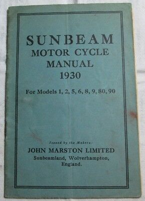 SunBeam MotorCycle Manual 1930