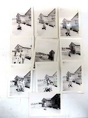 Lot of 10 Vintage WWII WW2 Original Photos Soldiers at Barracks