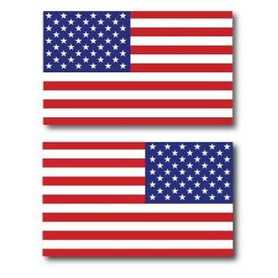 American Flag Magnets 2 Pack 3x5 inch Opposing Flag Decals for Car Truck or SUV