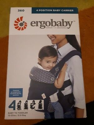 Ergo Baby Carrier 360, 4 position baby carrier,  Dusty Blue