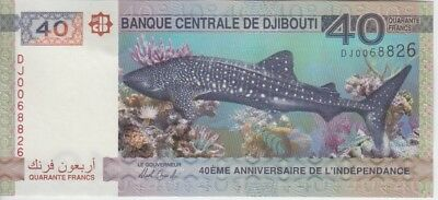 Djibouti 40 Francs 2017 New 40th Anniversary of Independence-Maritime Fauna UNC