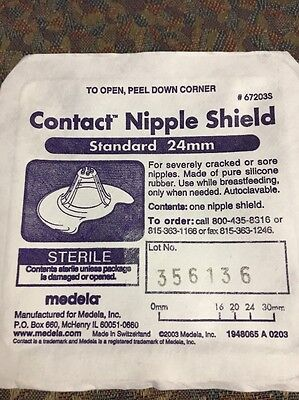 67203S Medela Contact Nipple Shield - 24 mm (Standard).  Sterile.  New - 1pc