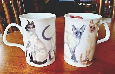 The Henley Collection of England, 2 SIAMESE CAT MUGS 2013 ~ PURRFECT