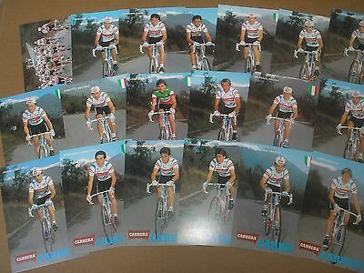 19 photos DIFFERENTE cyclisme ciclismo cycling EQUIPE CARRERA 1988