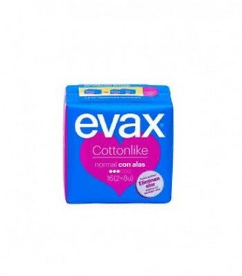 Evax Compresas Cottonlike Normal Con Alas 16 Uds