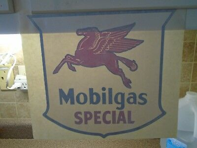Vintage Mobilgas Special ~ oil Pegasus decal Gas Pump Globe or Glass Decal