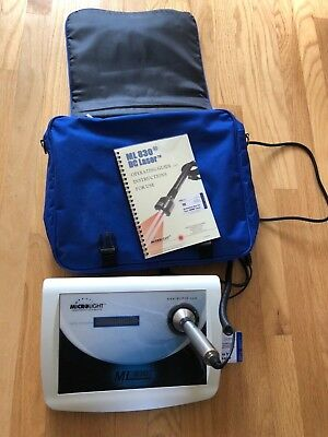 therapy laser - Microlight 830 with probe, chip card, manual and travel bag.