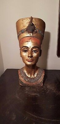Rare Antique Ancient Egyptian Stat Queen Nefertiti Head wear necklace1370-1330BC