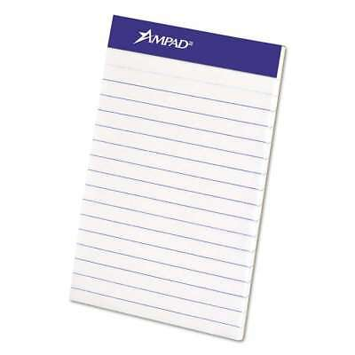 Ampad® Perforated Writing Pad, Narrow, 3 x 5, White, 50 Sheets, D 074319202080