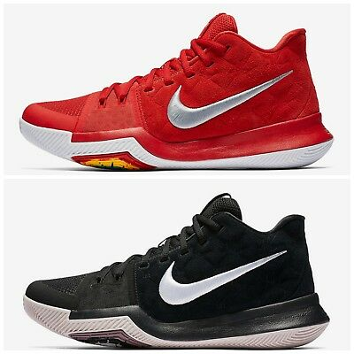 best cheap 28dcc 3996e Mens Nike Kyrie 3 Black White Red 852395-010 601