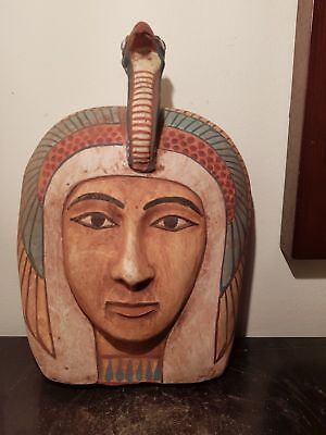 Rare Antique Ancient Egyptian Queen pharaoh Hatshepsut wooden Mask1478–1458 BC