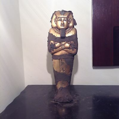 Rare Antique Ancient Egyptian Ushabti pharaoh Amenhotep water Gold 1386-1349 BC