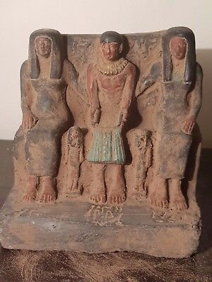 Rare Antique Ancient Egyptian Statue Architect Imhotep with Family2687-2668 BC